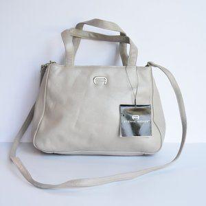 NWT Etienne Aigner Silver Leather Handbag